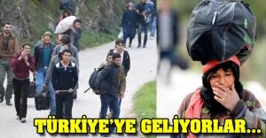 2 gün yürüyerek Türkiye'ye geliyorlar