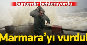 Beklenen lodos Marmara'yı vurdu