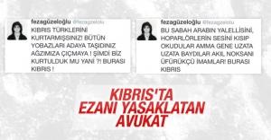 KKTC#039;de ezanı Feza Güzeloğlu...