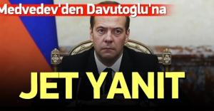 Medvedev'den Davutoğlu'na jet yanıt!
