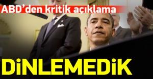 ABD: İddialar yalan, Türkiye'yi dinlemedik