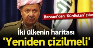 Barzani: İki ülkenin haritası yeniden...