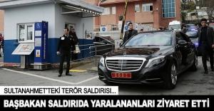 Başbakan'dan Sultanahmet'teki saldırıda yaralananlara ziyaret