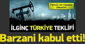Barzani satılan petrolün gelirini Irak'a verecek