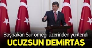 Davutoğlu'ndan Demirtaş'a Sur cevabı