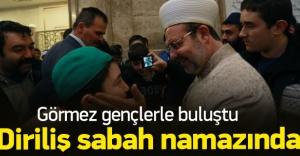 Mehmet Görmez sabah namazını gençlerle kıldı