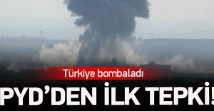PYD#039;den top ateşine ilk tepki
