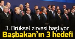 Başbakan Davutoğlu'nun Brüksel zirvesi