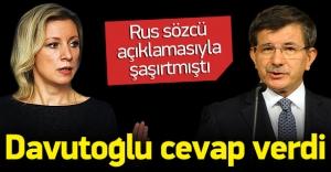 Davutoğlu'ndan Rusya'nın açıklamasına cevap!