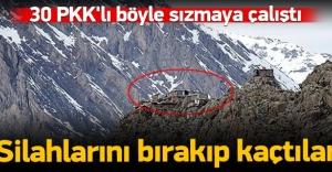 PKK'lılar Dağlıca'ya böyle sızmaya çalıştı!