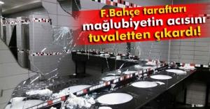 Fenerbahçe taraftarları koltuk ve tuvaletlere zarar verdi