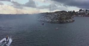 Norveç'te 14 kişiyi taşıyan helikopter düştü