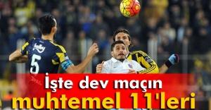 Trabzonspor-Fenerbahçe maçının muhtemel 11'leri