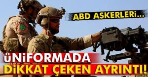 ABD askerlerinin üniformasındaki 'YPG' detayı