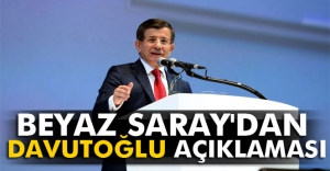 Beyaz Saray'dan Davutoğlu açıklaması