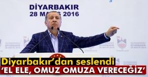 Erdoğan: #039;El ele, omuz omuza...