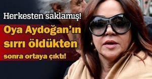 Oya Aydoğan, herkesten gizli Mutlu...
