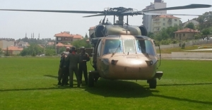 Şehit babası, acı haberi alınca evine helikopterle getirildi