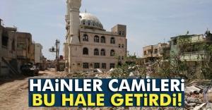 Teröristler camileri kullanılmaz hale getirdi