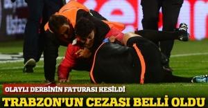 Trabzonspor'a 4 maç saha kapama