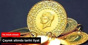 Çeyrek Altın İçin Tarihi Fiyat
