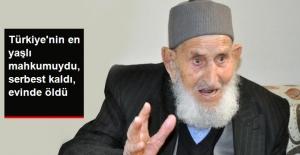 Eşine Bastonla Vurunca Mahkum Olan 95 Yaşındaki Akgül Öldü