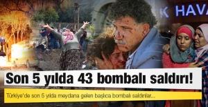 Türkiye'de son 5 yılda meydana gelen bombalı saldırılar