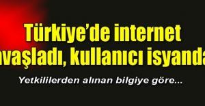 Türkiye`de internet yavaşladı, kullanıcı...