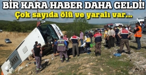 Yozgat'ta yolcu otobüsü devrildi, 3 kişi hayatını kaybetti