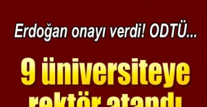 9 üniversiteye rektör atandı!