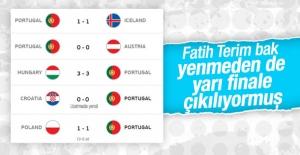 Portekiz hiç kazanamadan yarı finale yükseldi
