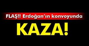 Cumhurbaşkanı Erdoğan'ın konvoyunda zincirleme kaza..