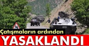 Nazımiye'de bazı köy ve mezralarda sokağa çıkma yasağı ilan edildi