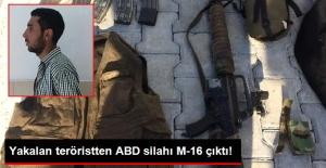 PKK'lı Terörist, ABD Yapımı M-16 ile Yakalandı