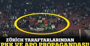 Osmanlıspor maçında Öcalan fotoğrafı ve PKK bayrağı!