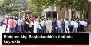 Polis, Öğretmen, Sağlıkçı Binlerce Mağdur Başbakanlık'ın Önünde Kuyrukta