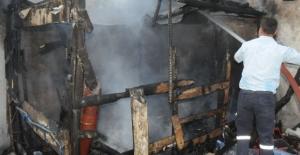 Şırnak Cizre'de korkutan yangın