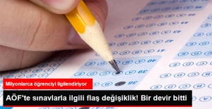 Artık AÖF Sınavlarında ........