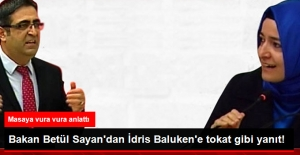Bakan Betül Sayan'dan İdris Baluken'e Tokat Gibi Yanıt
