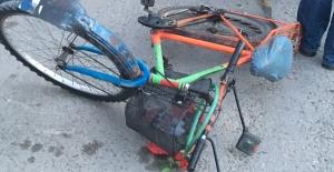 Çorum'da kamyonla çarpışan bisikletin sürücüsü öldü