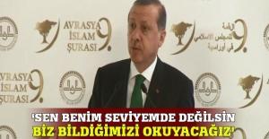 Erdoğan'dan İbadi'ye cevap: Sen önce haddini bil!
