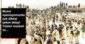 Musul Operasyonunda Yüzleri Maskeli Peşmerge Kıyafetli