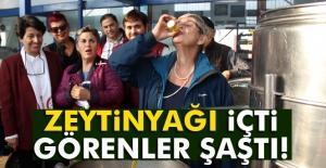 Prof. Dr. Canan Karatay zeytinyağı içti, görenler şaşırdı