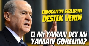 Devlet Bahçeli'den flaş açıklamalar