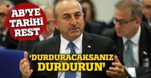 Dışişleri Bakanı Çavuşoğlu'dan AB'ye tepki