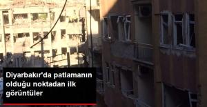 Diyarbakır'da Patlamanın Olduğu Noktadan İlk Görüntüler!!