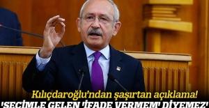 Kemal Kılıçdaroğlu: 'Seçimle gelen 'İfade vermem' diyemez'