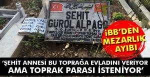 Şehit annesinin vasiyetine Büyükşehir Belediyesi'nden mezarlık ayıbı