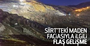 Siirt'teki maden faciasıyla ilgili 2 gözaltı