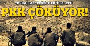 Teslim olan teröristlerin itirafları PKK'nınn çöküşünü ortaya koydu